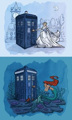 not JUST Disney & Doctor Who (two of the greatest things in existence) but ARIEL AND DOCTOR WHO. I think the doctor would flip out about Ariel being a mermaid