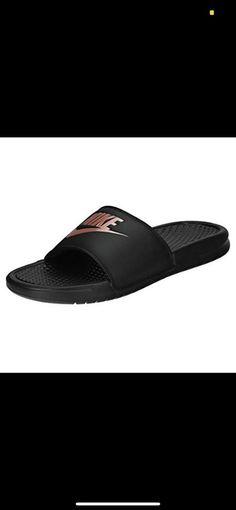 3432f09b92b7df Details about NEW Women s Nike Benassi JDI Slide Sandles Black Rose Gold  size 7 8 9 343881 007