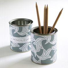 Susy Jack pencil cup in Lace Blockprint
