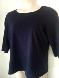 #Woman's #SupimaCotton Scoop Neck Top #T-Shirt #3/4Sleeve #XL  #sale http://www.ebay.com/itm/Womans-Supima-Cotton-Scoop-Neck-COLDWATER-Top-T-Shirt-3-4-Sleeve-XL-16-sale-/221955077115 #top #NavyBlue #Supima