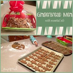 The secret to a great holiday baking recipe? Making gingerbread men with essential oils. This is sure to impress at any cookie exchange.