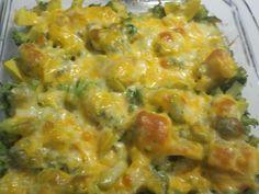 squash and broccoli gratin