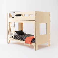 Plyroom - Castello Bunk Bed - vintage curves, nordic influence European Birch Ply (http://www.plyroom.com.au/castello-bunk-bed/)