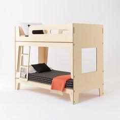 Plyroom - Castello Bunk Bed - vintage curves, nordic influence European Birch Ply (http://www.plyroom.com.au/castello-bunk-bed/)