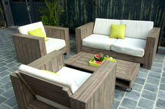 CARREFOUR Salon bas modulable Sumatra promo salon de jardin ...