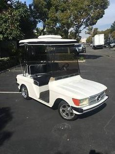 Custom Mercedes Benz Golf Cart white alloy rims