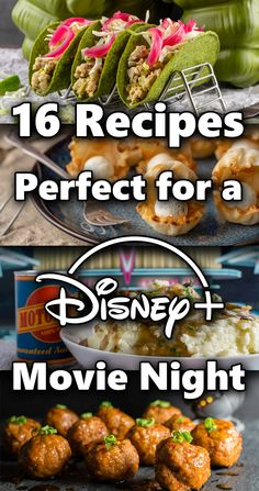 Looking to enjoy an evening or weekend watching Disney+? The Geeks have rounded up 16 recipes inspired by movies on the streaming channel! Disney Themed Food, Disney Inspired Food, Disney Dishes, Disney Desserts, Disney Food Recipes, Star Wars Food, Night Food, Game Night, Dinner And A Movie