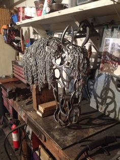 Horse shoe horse head for sale $450 plus shipping.