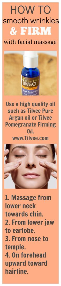 How to smooth wrinkles & firm the skin with facial massage.                                                                                                                                                     More