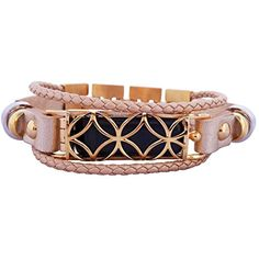 d41d8cb8a775 FitBit flex Jewelry Fitbit Bracelet FUSION 2 stainless steel real leather  Fitbit Flex replacement band Gold SM 5565 inch -- Visit the image link more  ...