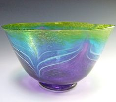 Hand Blown Glass Bowls | Hand Blown Glass Bowl - Morning Glory II