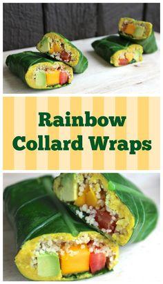 Rainbow Collard Green Wraps