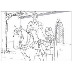 Didaktická maľovanka Tři oříšky pro Popelku
