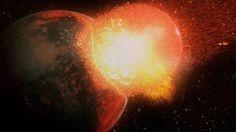 Négy+milliárd+évvel+ezelőtt,+amikor+a+naprendszerünk+éppen+csak+elkezdett+létezni,+egy+kóbor+planetoida,+amelynek+méretei+a+Marshoz+hasonlíthatók,+neki+ütközött+a+formálódó+Föl-kezdeménynek.+Az+összeütközésben+kő,+fém+és+más+anyagok+szóródtak+szét+és+ezekből+alakult+ki+a+kis+bolygónk,+a+Hold.  Az…