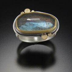 Ananda Khalsa Oval Labradorite Ring