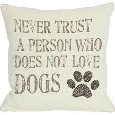 Dog Lover Pillow  at Joss and Main