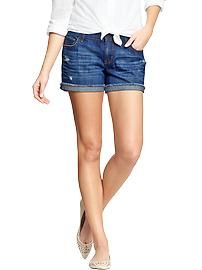 Women's The Boyfriend Cuffed Denim Shorts (3-1/2