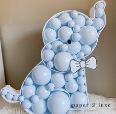 Diy Baby Shower Decorations, Boy Baby Shower Themes, Baby Shower Balloons, Balloon Decorations, Baby Boy Shower, Balloon Garland, Elephant Decorations, Balloon Ideas, Baby Shower Parties