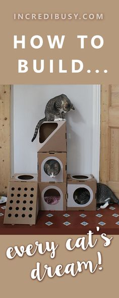 How to build a modular cat cave! Oh we LOVED making this, and Kipper the cat LOVES climbing on it...