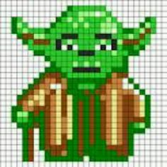 cross stitch chart for Yoda