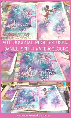 Art journal page created using daniel smith watercolours from a hand poured pan set, complete with a process video - kerrymay. Watercolor Art Paintings, Watercolor Paper, Watercolours, Watercolour Tips, Art Journal Pages, Junk Journal, Art Journaling, Bullet Journal, Tattoo Modern