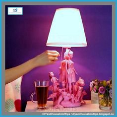 DIY And Household Tips: Turn Old Barbie Dolls Into A Cute Pink Lamp