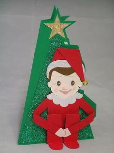 He's whimsical, he's mischievous, he's loved by all!  But this special scout does his job as we sleep!  Tracey is sending one to family and friends on her Christmas list, only 70, wow, and here's just one of her fabulous cards!    Give your own special elf from SANTA'S HELPFUL ELVES SVG KIT!  Put a smile on their faces!