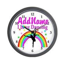 BALLERINA STAR Wall Clock Inspiring Dancer & Ballerina clocks makes beautiful Dancer decor.  http://www.cafepress.com/sportsstar/10423569 #Dancer #Dancergifts #Ballet #Ballerina  #Personalizeddancer #Ballerinaclock