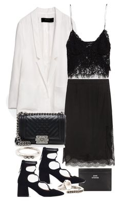 """""""Untitled #11129"""" by minimalmanhattan on Polyvore featuring Zara, Acne Studios, Chanel and Rosa Maria"""
