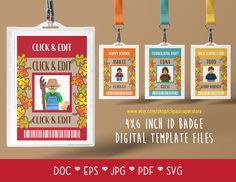 ID Badge Tag Thanksgiving Camping Autumn Fall DOC PDf SVG Instant Download Printable Font Editable Template Digital File by clipartsuperstore on Etsy Badge Template, Badge Design, Party Items, Id Badge, Autumn Fall, Thanksgiving, Printable, Pdf, Camping