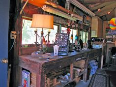 Love the windows in the garage above the workbench.