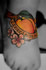 georgia peach – – New Tattoo Models Future Tattoos, New Tattoos, Girl Tattoos, I Tattoo, Cheryl Tattoos, Georgia Tattoo, Peach Tattoo, Just Peachy, Tattoo Models