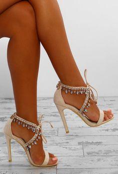 f27f811d430 Vegas Lights Cream Embellished Stiletto Heels