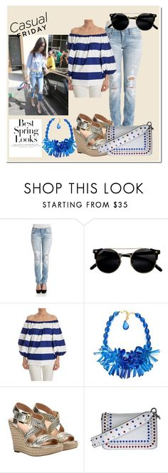 """""""Spring Summer 2016"""" by theclutcher ❤ liked on Polyvore featuring Dondup, Blugirl, P.A.R.O.S.H., Michael Kors, Marc Jacobs, H&M and StreetStyle"""