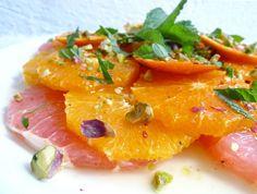 Salade van sinaasappel, mandarijn en grapefruit