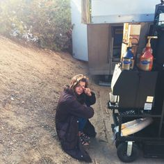 Maia Mitchell on set! | The Fosters