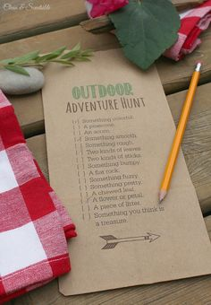 Outdoor Scavenger Hunt and S'mores Printable