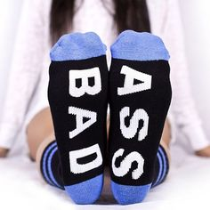 Bad Ass socks from Arthur George by Robert Kardashian are available in Black / Blue and have a Crew length size that will keep you feeling bad ass. Silly Socks, Crazy Socks, Cute Socks, My Socks, Happy Socks, High Socks, Funny Socks For Men, Awesome Socks, Women Socks