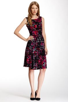 Sleeveless Floral Print Dress by Taylor on @nordstrom_rack