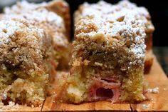 Rhubarb Big Crumb Coffee Cake - by Smitten Kitchen  --    http://smittenkitchen.com/blog/2008/02/big-crumb-coffee-cake/