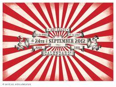 steampunk circus event theme menu - Google Search