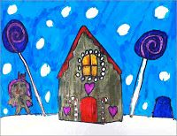 Art Projects for Kids: Gingerbread House Marker Drawing