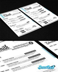 Modelos de Curriculums Vitae en Photoshop | Jumabu! Design Tools - Vectorizados - Iconos - Vectores - Texturas