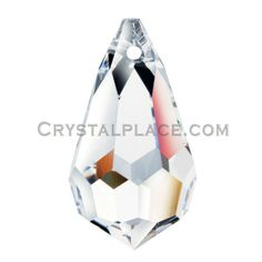 This Swarovski Spectra Crystal Drop- Clear Swarovski Drop crystal 8290 8641 is available in 20x12mm. Swarovski Spectra crystal is the finest lead free crystal available. Made with the purest raw materials, Swarovski Spectra crystals can be used as a chandelier part or to make crystal jewelry or crystal ornaments, $0.32/ea