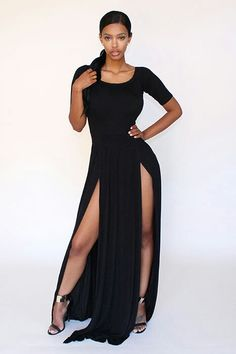 Sexy black dress outfit