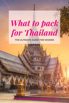 Check out this ultimate guide for women, what to pack for Thailand. #thailandpacking #musthaveitemsforthailandtravel #minimalistpackingforthailand #thailandpackinglist