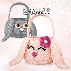 Easter Bunny Baskets / awww, so cute! / beginner / CROCHET pattern