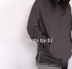 minsobi-urban-classic Men's sweat hoodie with shirred sleeves #minsobi #ミンソビ #sweat #hoodie #fashion #japan #menstyle #japanstyle #mode #streetwear