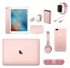 """""""Apple's Rose Gold World"""" by elnara698 on Polyvore featuring мода, Apple, Beats by Dr. Dre и Belkin"""
