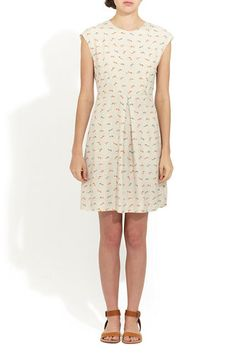 Steven Alan Harman Dress - a delicate and demure print partners with a deliciously retro silhouette to create this dainty little frock with tons of indie appeal. Sweet and breezy and wonderfully effortless, it's as cute with a cardi as it is on its own. The breathability not only makes it look cool, but feel cool as well. #r29summerstyle